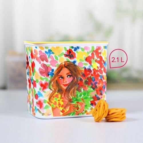 Designer Snack Rectangular Container-2.1 L