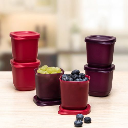 Small Square Snack Containers Cubix 110ml 6pc