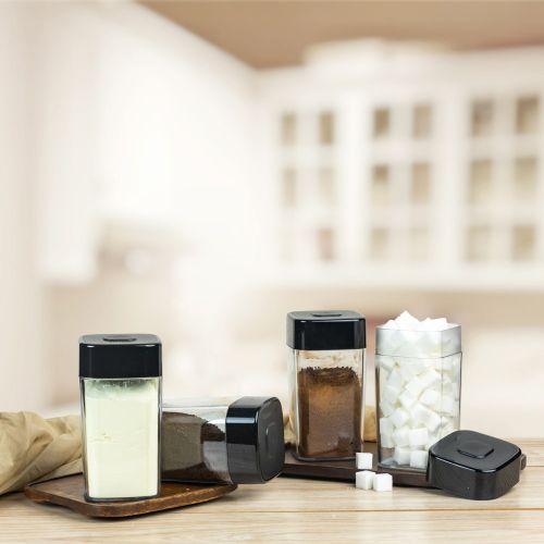 Tea Coffee Storer Shelf Saver 560ml 4pc Container