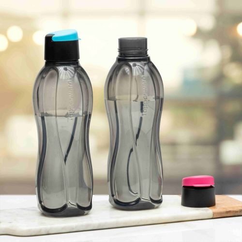 Tupperware Aquasafe Xtreme 1L Fliptop Bottle 2pc
