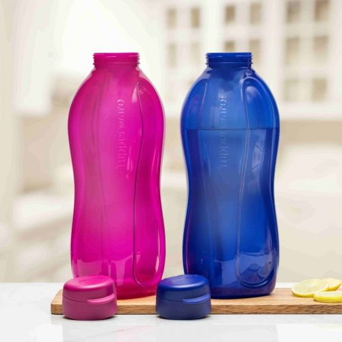 Aquasafe Eco Fliptop 2 litre Water Bottle 2pc