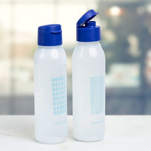Aquasafe Cool n Chic 750ml Drops n Waves Fliptop Water Bottle 2pc