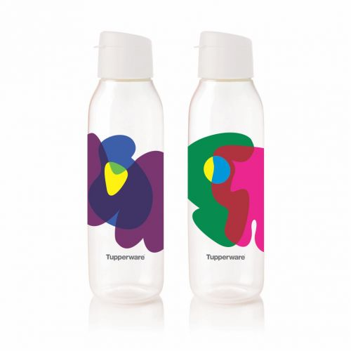 Round 750ml Fliptop Bottle Cool n Chic, Bright n Chirpy 2pc