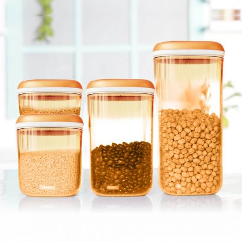 Dry Snacks Storer Clear Canister Set