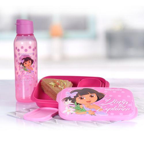 Dora Kids Lunch Set Pink