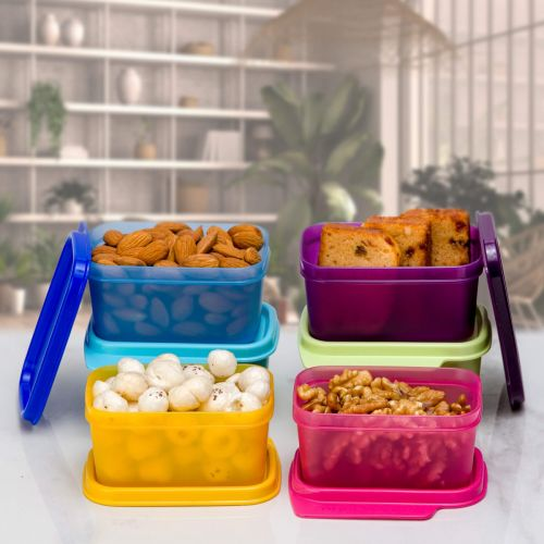 Rectangle Refrigerator Container Keep Tab 160ml 6pc